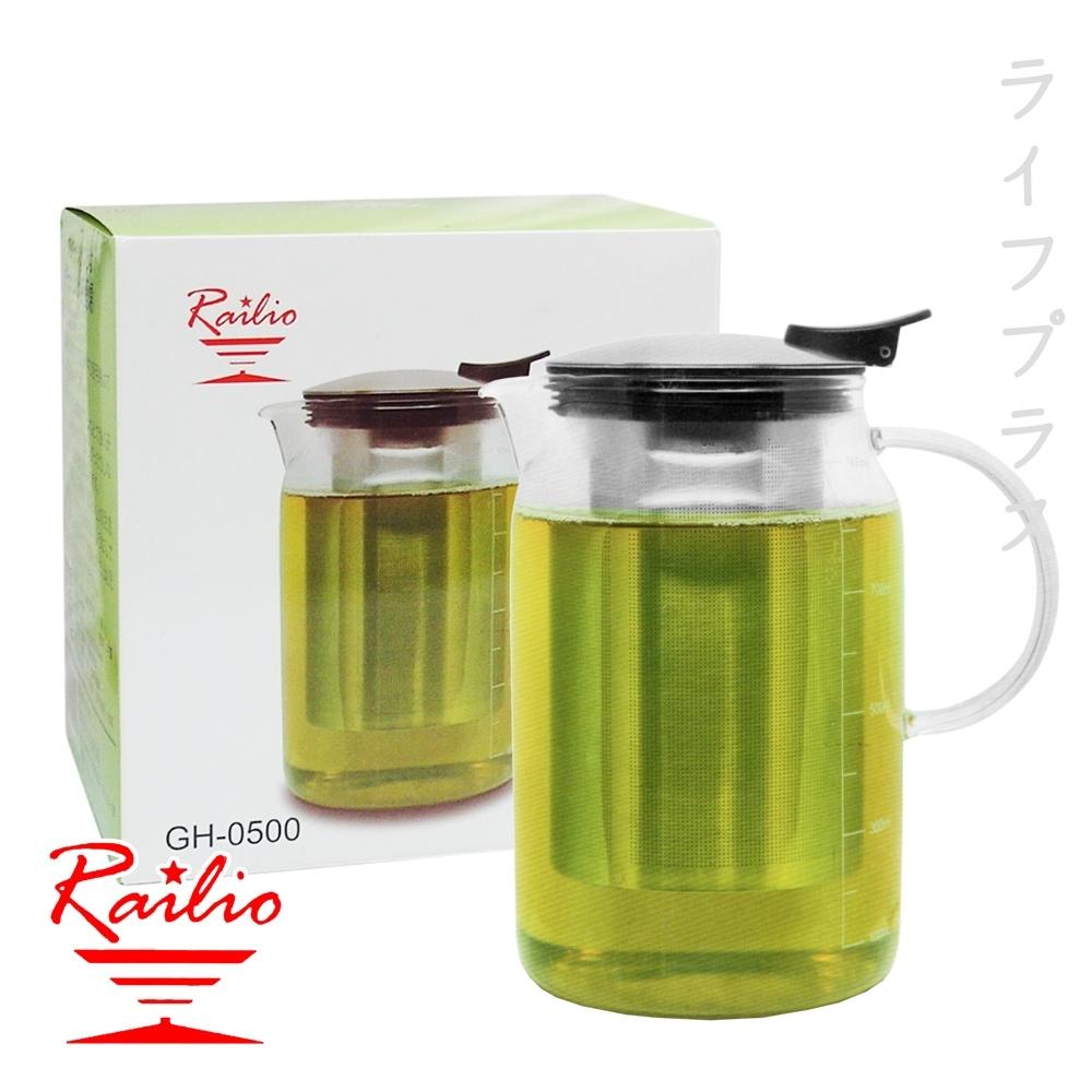 RAILIO 摩登花茶壺-500ml-1入組