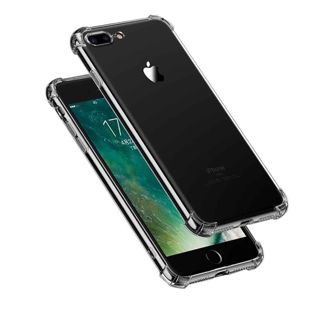 iPhone7Plus iPhone8Plus 手機殼 透明黑四角氣囊防摔手機殼 (iPhone7Plus手機殼 iPhone8Plus手機殼 )