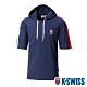K-SWISS Loose Fit Hoodie短袖連帽上衣-男-藍 product thumbnail 1