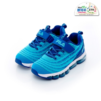 FILA KIDS 大童MD氣墊跑鞋-藍色 3-J813T-313