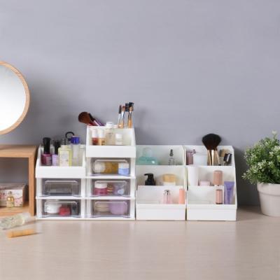 創意達人日系簡約小資組桌上型抽屜收納盒-6入組