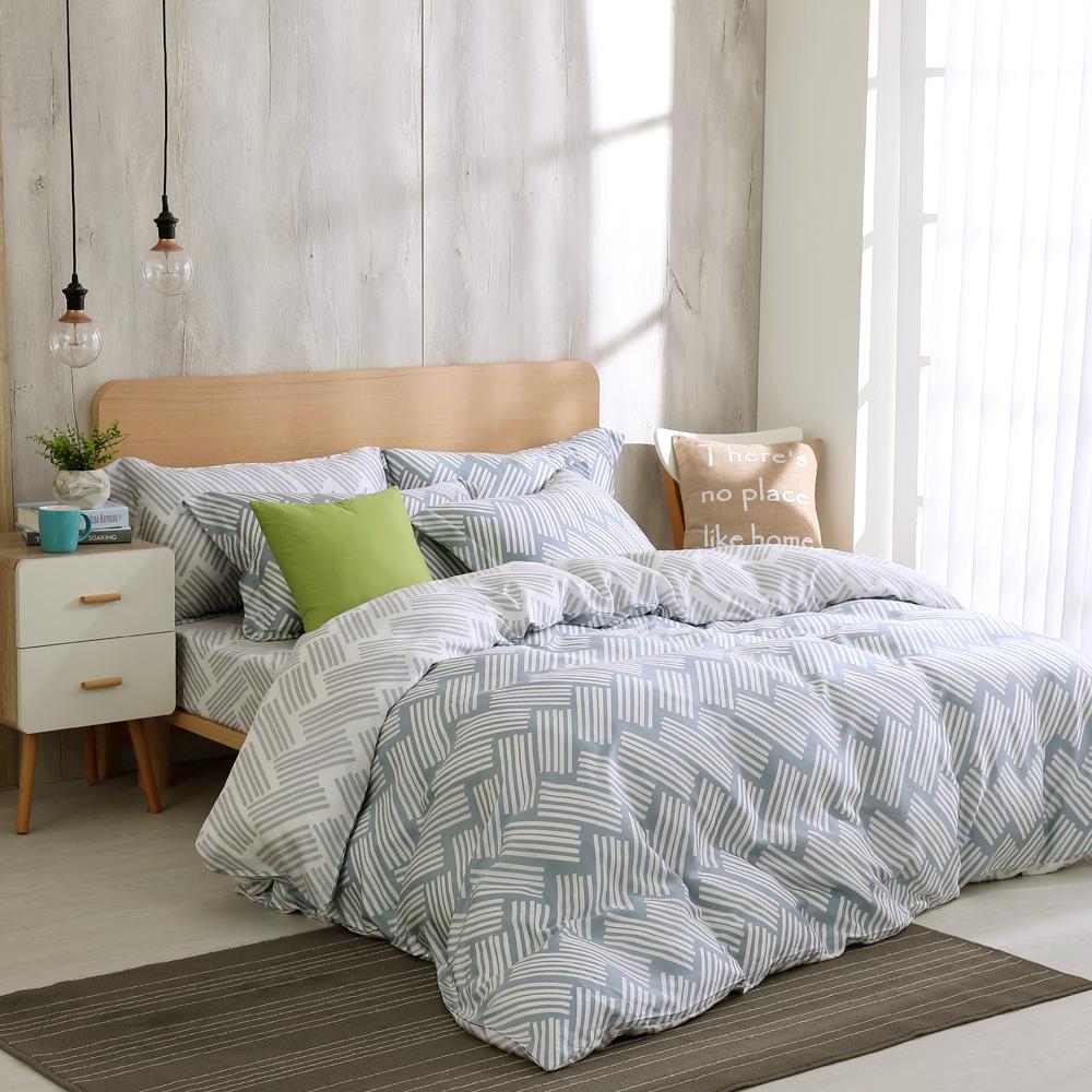 鴻宇 雙人床包兩用被套組 天絲300織 米克諾斯 台灣製