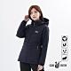 【遊遍天下】女款顯瘦防風防潑禦寒中長版90%羽絨外套GJ22022黑紫 product thumbnail 1