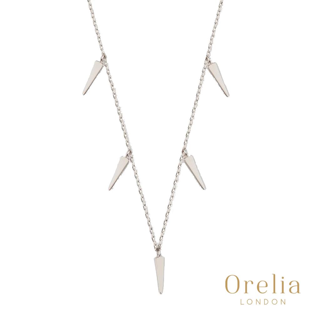 Orelia 英國倫敦 迷你匕首鍍銀項鍊
