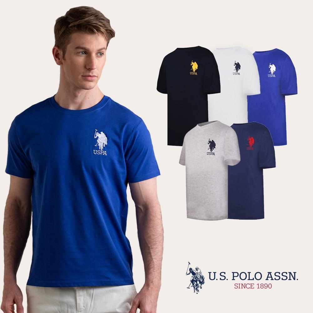 U.S. POLO ASSN. 美國馬球 大馬LOGO T恤(新版) - 多色任選