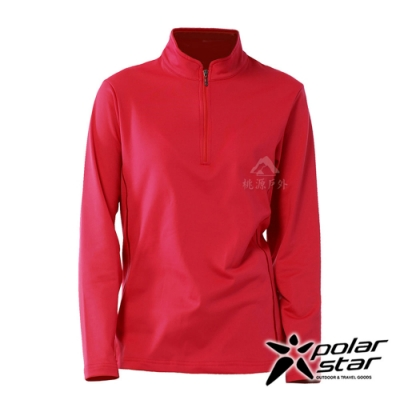 【PolarStar】女 立領保暖長袖上衣『紅』P20228