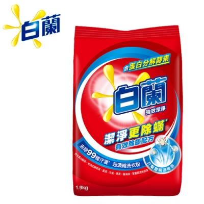 白蘭 強效潔淨除蟎超濃縮洗衣粉1.9kg