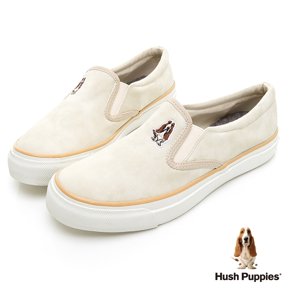 Hush Puppies CASUAL 皮革直套便鞋-杏色