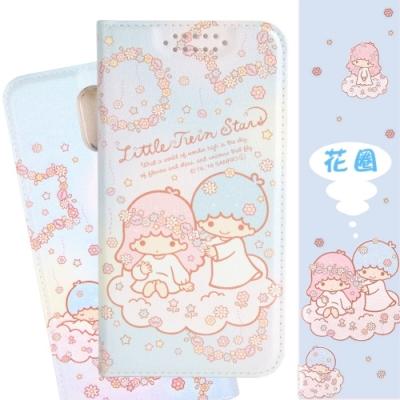 【雙子星】OPPO R17 甜心系列彩繪可站立皮套(花圈款)