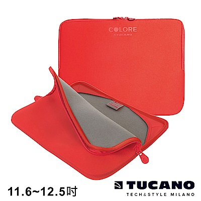 TUCANO Colore 多彩時尚筆電防震內袋 11.6-12.5吋-紅