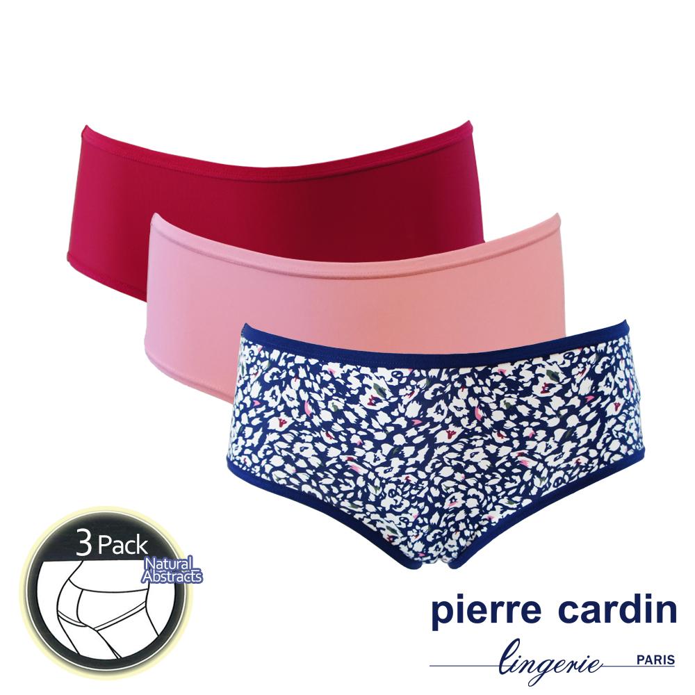 Pierre Cardin皮爾卡登 自然印花舒柔三角褲 (3件組)