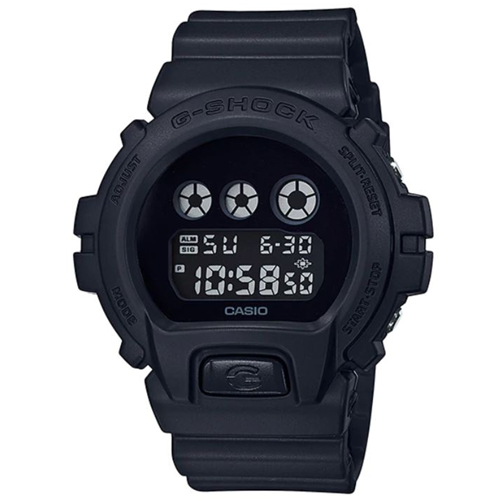 G-SHOCK 經典款消光黑霧面設計休閒運動錶-(DW-6900BBA-1)/53.2mm