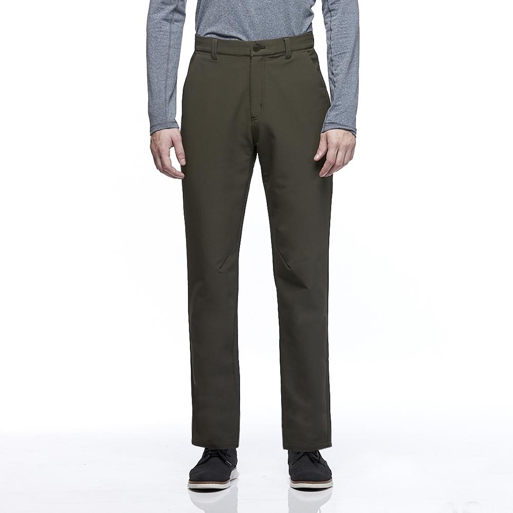 【HAKERS 哈克士】男款 防潑水彈性長褲(墨綠色)