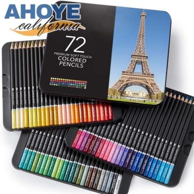 Ahoye 72色油性色鉛筆 畫家鐵盒系列
