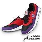 Aviator韓國空運-Paperplanes拼接流行弧線氣墊舒適運動鞋-紫紅