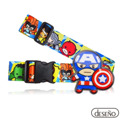 Marvel 漫威英雄立體名牌束帶-美國隊長
