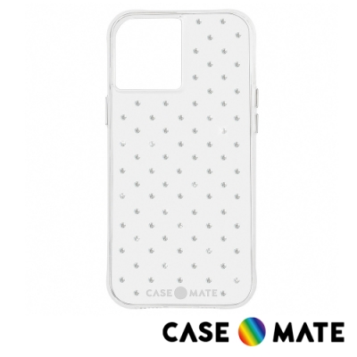 美國 Case-Mate iPhone 12 mini Sheer Gems 純色水鑽防摔抗菌手機保護殼