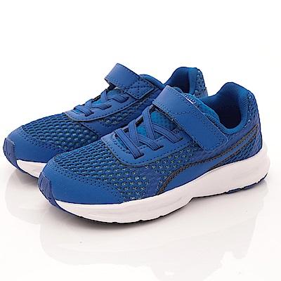 零碼-19cm PUMA童鞋 透氣運動鞋款 ON90148-01藍