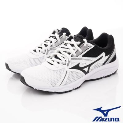 MIZUNO童鞋 綁帶運動鞋款-TW02002黑白(中大童段)