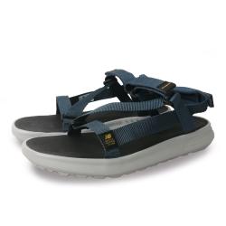 New Balance 涼拖鞋 基本款 魔鬼氈 男女鞋 灰藍 SDL850SBD