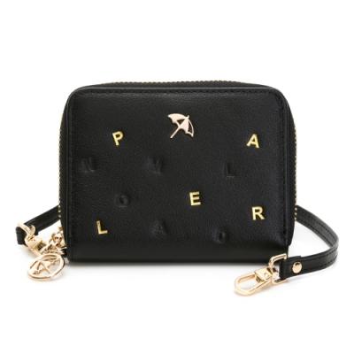 Arnold Palmer- 零錢包附手挽帶 金色字母系列-黑色