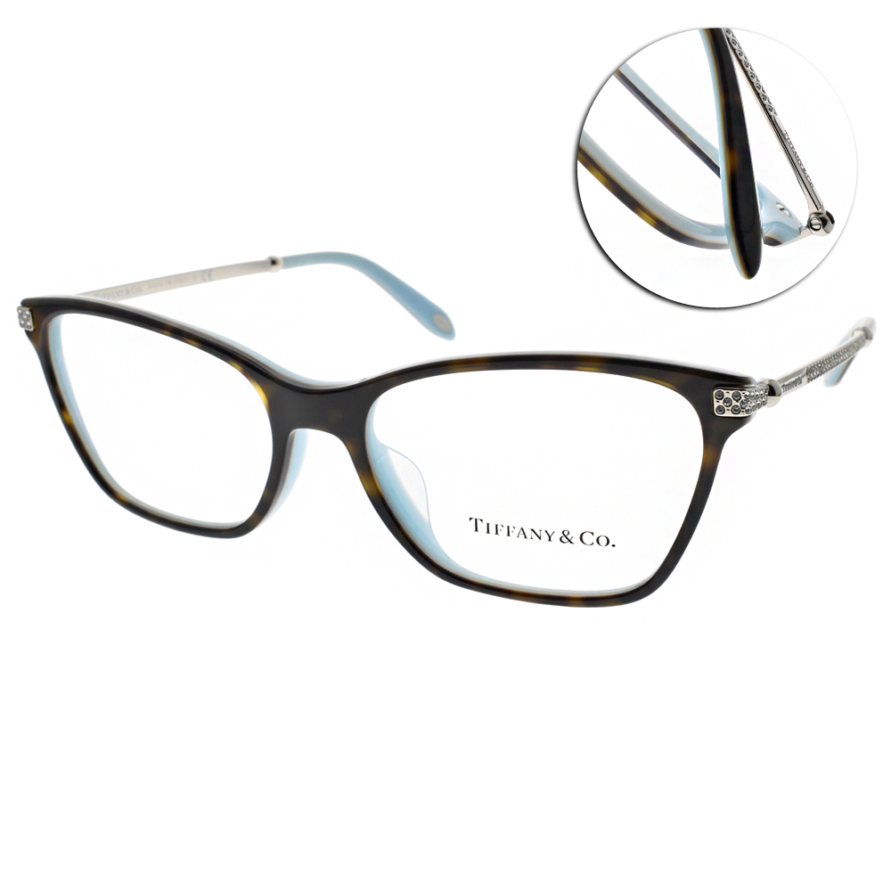Tiffany&CO.光學眼鏡 簡約典雅/琥珀-銀#TF2158BF 8134
