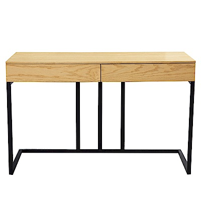 文創集 格林工業風4尺二抽書桌/電腦桌(二色可選)-120x50x75cm免組