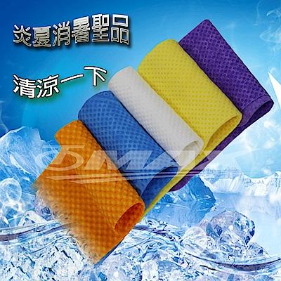 PVA仿麂皮瞬間涼感領巾(99x14cm)-2入+方巾2入(顏色隨機出貨)-8H