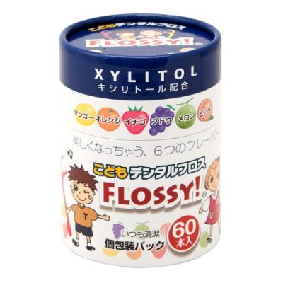 【日本UFC】 FLOSSY木醣醇兒童安全牙線棒60入/罐