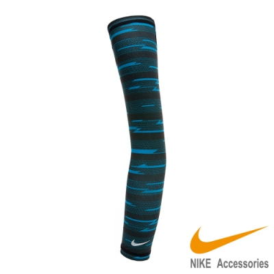 NIKE Dri-Fit輕量條紋臂套 藍黑