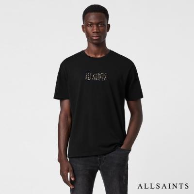 ALLSAINTS STAMP 個性迷彩品牌標LOGO印花再生棉短袖T恤-黑