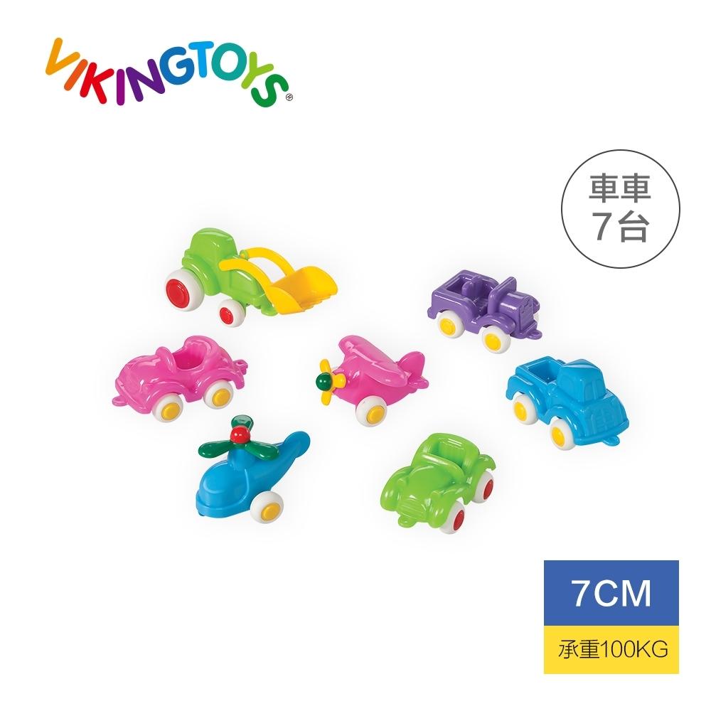 【瑞典 Viking Toys】迷你交通小車隊-7cm 粉嫩色 81129(幼兒玩具車)