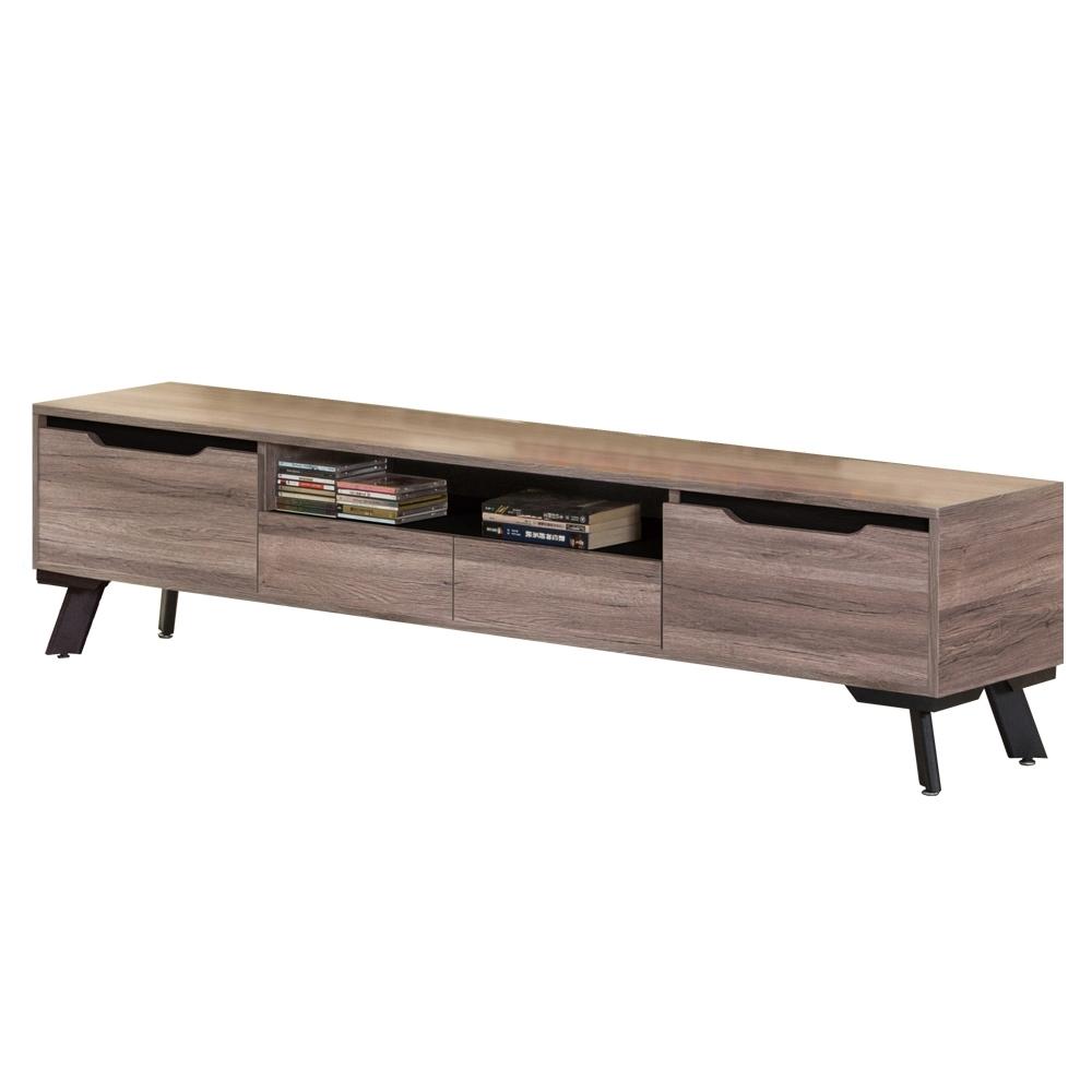 【AT HOME】現代設計6尺灰橡色收納電視櫃/長櫃/客廳櫃(巴菲特)