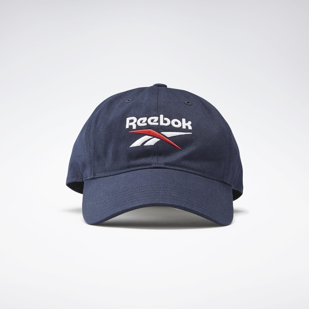Reebok TE LOGO CAP  老帽 休閒帽-藍-GH0399