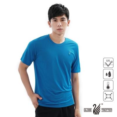 【遊遍天下】MIT中性款吸濕排汗抗UV機能圓領衫S107-<b>1</b>寶藍