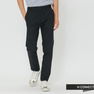 H:CONNECT 韓國品牌 男裝-簡約純色直筒長褲-藍(快)