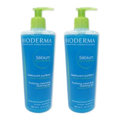 【量販瓶】BIODERMA - 平衡控油潔膚凝露/淨妍洗面乳 500ml/2入