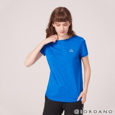 GIORDANO 女裝G-MOTION反光LOGO運動T恤- 67 青金石藍色