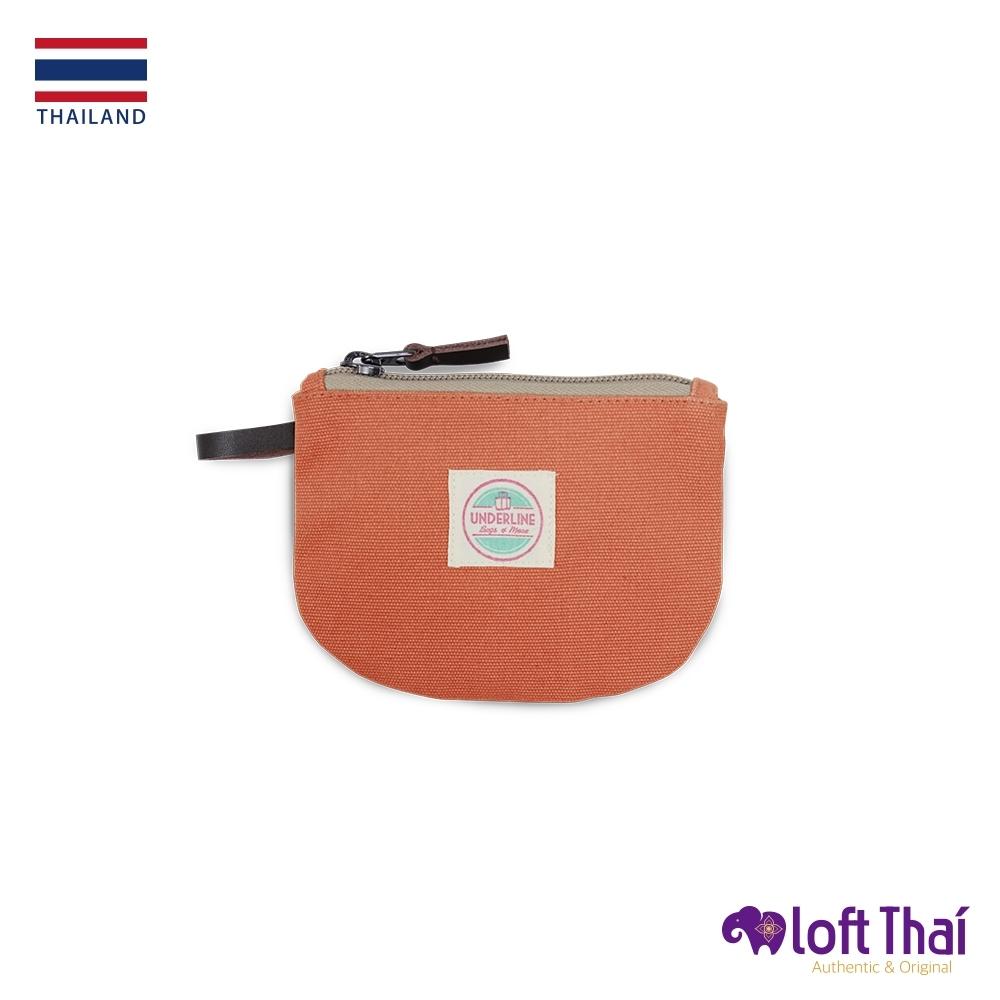 Loft THAI | 泰.半圓型帆布零錢包 | Orange