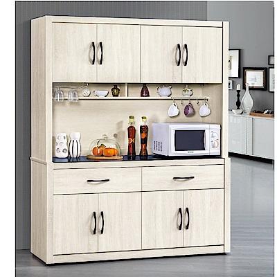 MUNA達爾鋼刷白橡木5.3尺餐櫃  157.6X41.8X197.2cm