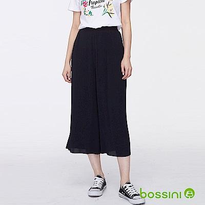 bossini女裝-時尚寬褲03黑