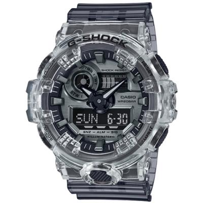 CASIO 卡西歐G-SHOCK 透明冰塊LED造型錶(GA-700SK-1A)