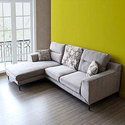擇木深耕-奧斯頓L型乳膠布沙發-獨立筒版(左右型可選)