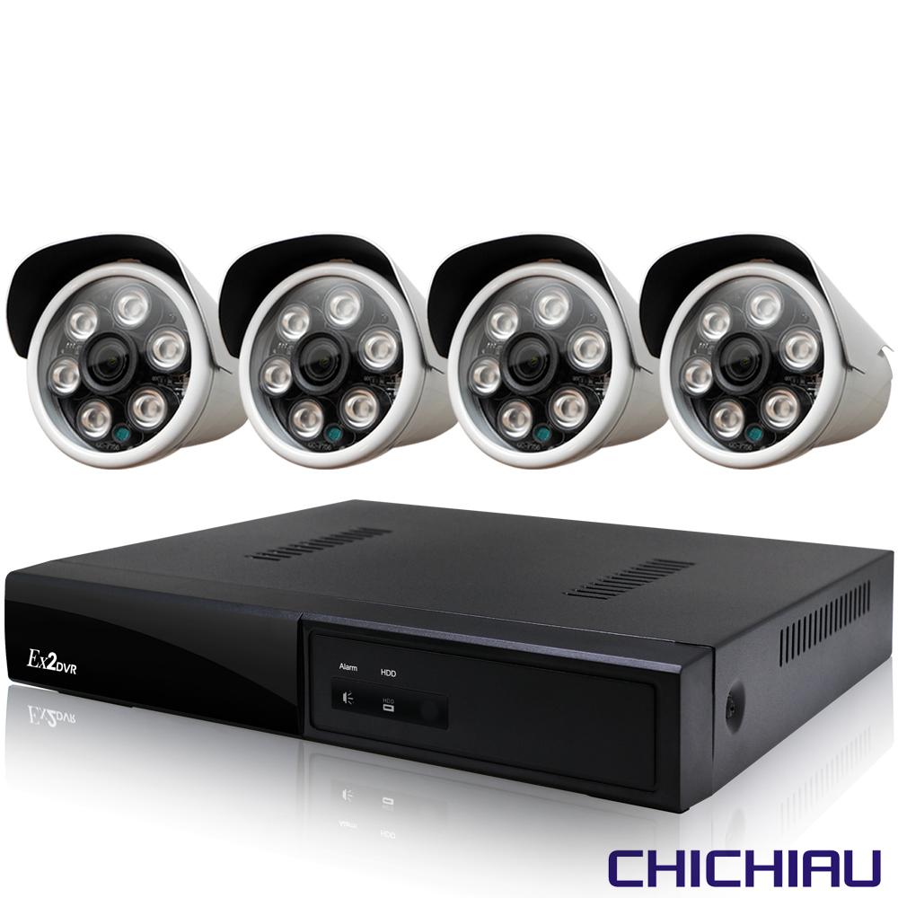 奇巧 4路五合一 5MP台製數位監控主機-含四合一SONY 200萬攝影機x4 @ Y!購物