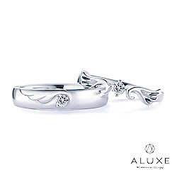A-LUXE 亞立詩 18K金 My Angle 鑽石情侶對戒