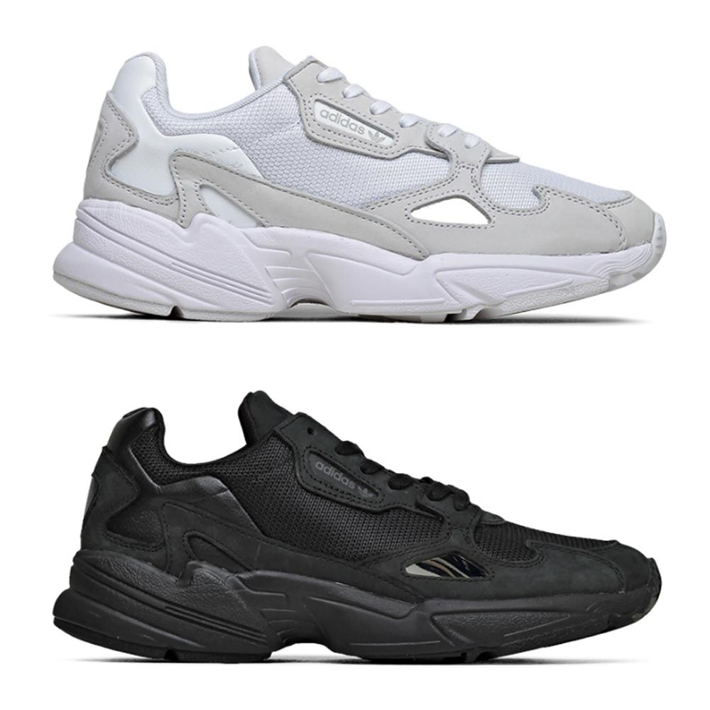 ADIDAS FALCON W 全黑 米白 老爹鞋