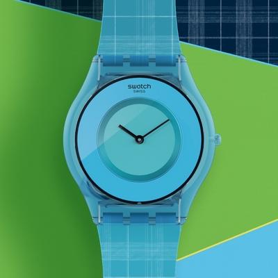 Swatch SKIN超薄系列 SARI MADRAS 02 神秘紗麗(34mm)