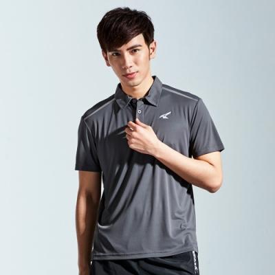 【AIRWALK】簡約設計吸排POLO衫-灰色