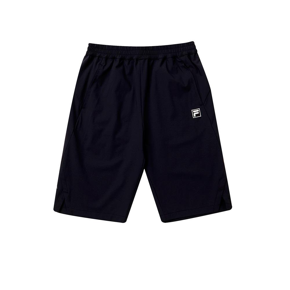 FILA KIDS 童抗UV彈性短褲-黑 1SHT-4309-BK