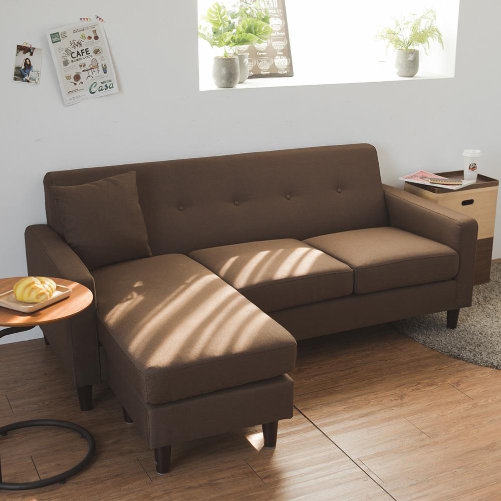 完美主義 日系簡約L型沙發/椅凳/三人座(4色) product image 1